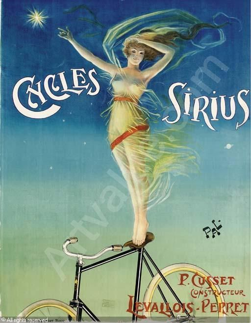 Cycles Sirius 1898 French Bicycle Advertising Vintage Poster Print