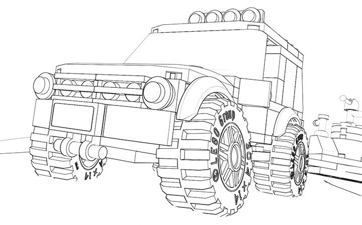 Lego Coloring Page 60055 Monster Truck