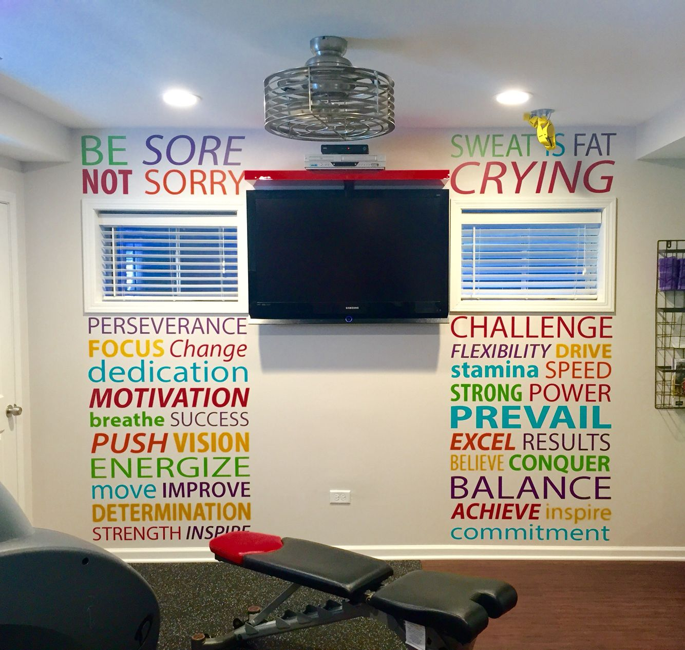 Home Gym Design Ideas Basement: Home Gym Layout Ideas Gym Wall Decal