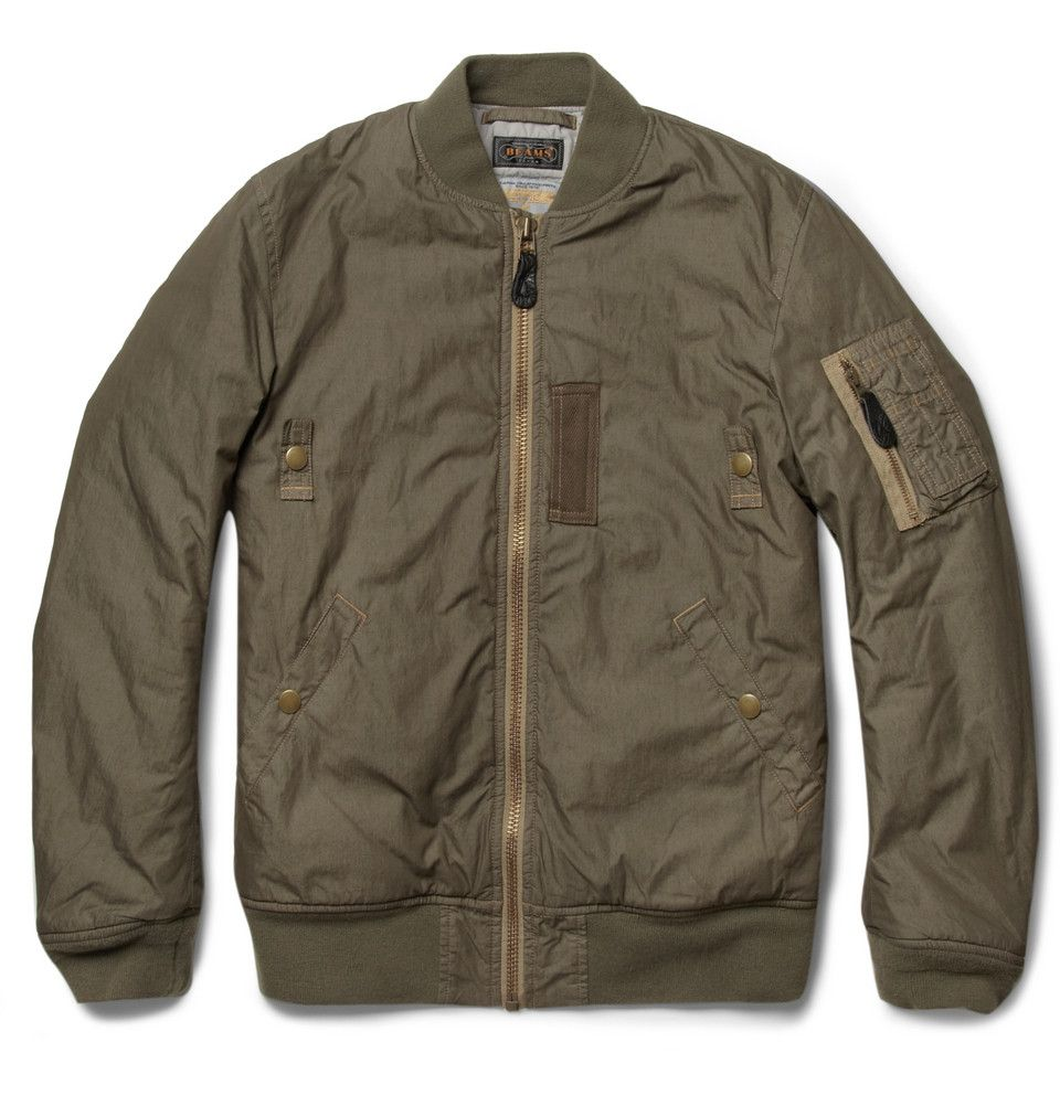 Beams Plus Ma 1 Padded Cotton Blend Bomber Jacket Mr Porter Designer Bomber Jacket Mens Jackets Bomber Jacket [ 1002 x 960 Pixel ]