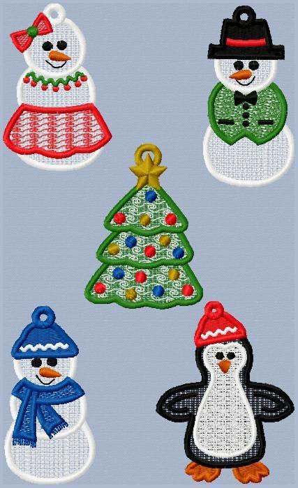 Machine Embroidery Designs - FSL Frosty Friends | Sewing ideas ...