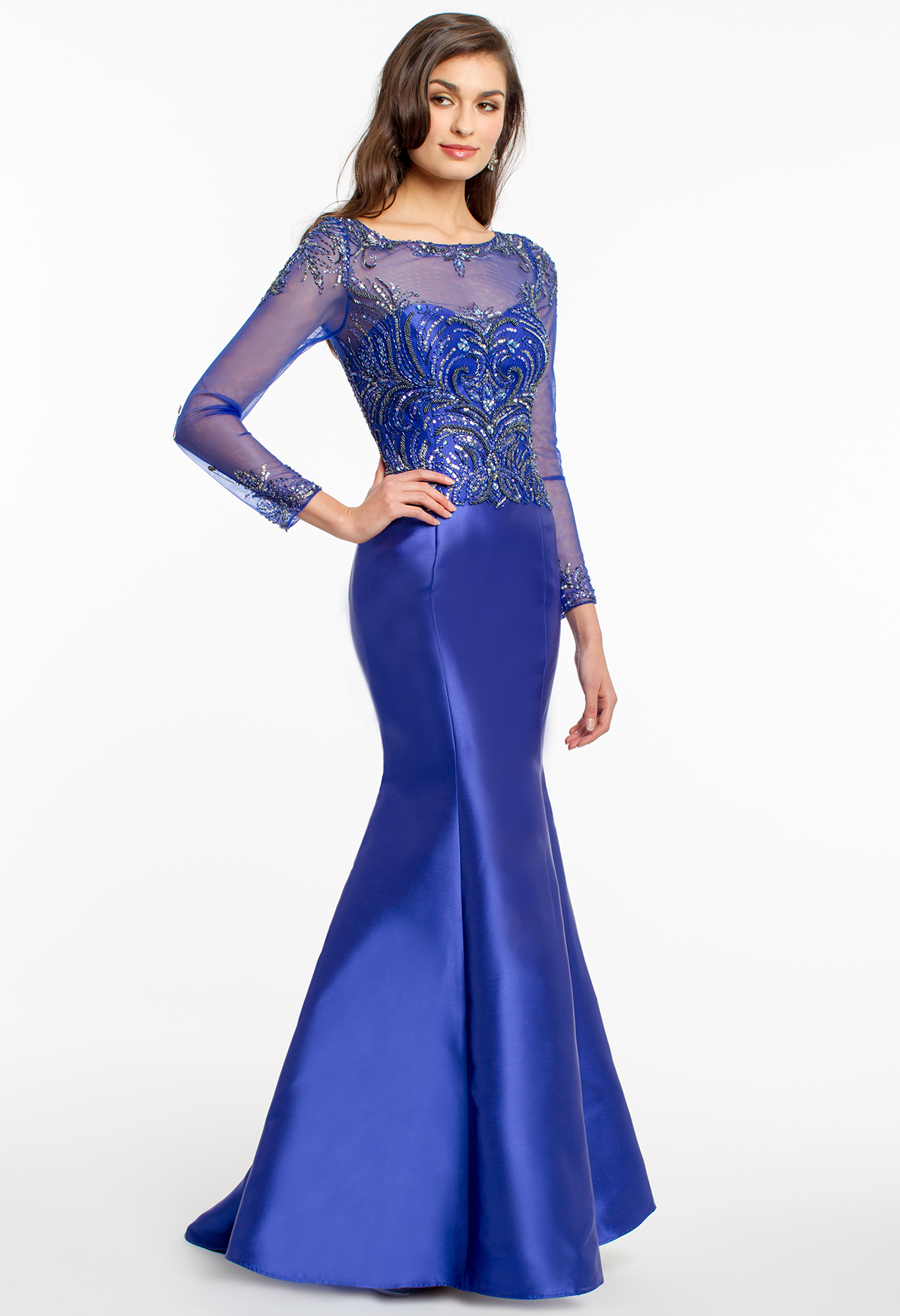 Mikado trumpet dress camillelavie clvprom prom dresses