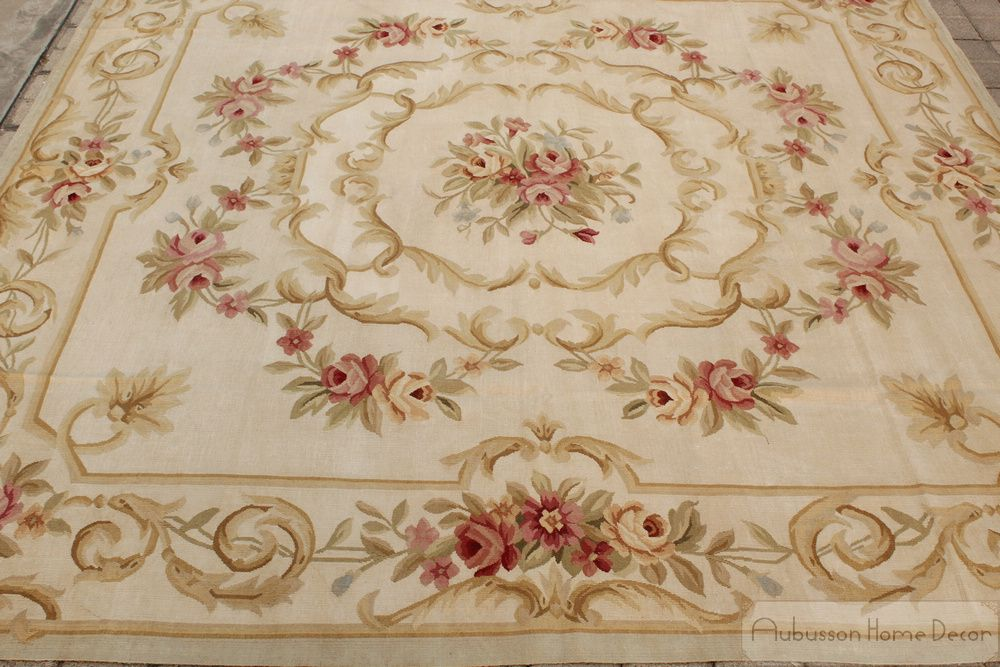 7X7 Area Rugs For Dining Room Rug 7X7New 7X7 Square Antique French Decor Aubusson Area Rug