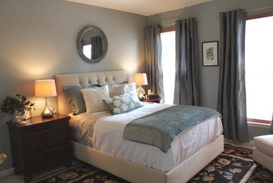 Dark Gray Curtains Remodel Bedroom Blue Master Bedroom Guest