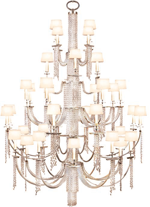 Fine Art Lamps Customization Program Customized Finished Chandelier Made Dramatically Larger 3 Additional Tiers Of Lights Added Height Increased By 4 With