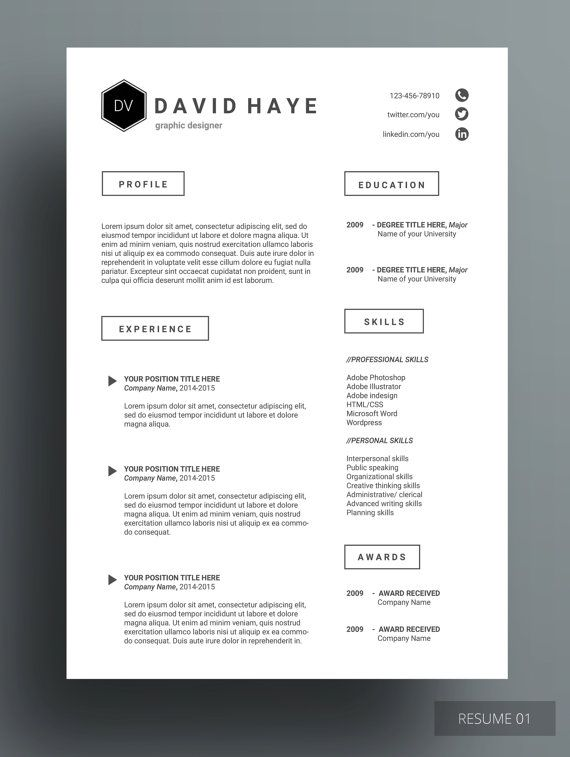 RONZELA RESUME This design provides simple, sophisticated and high