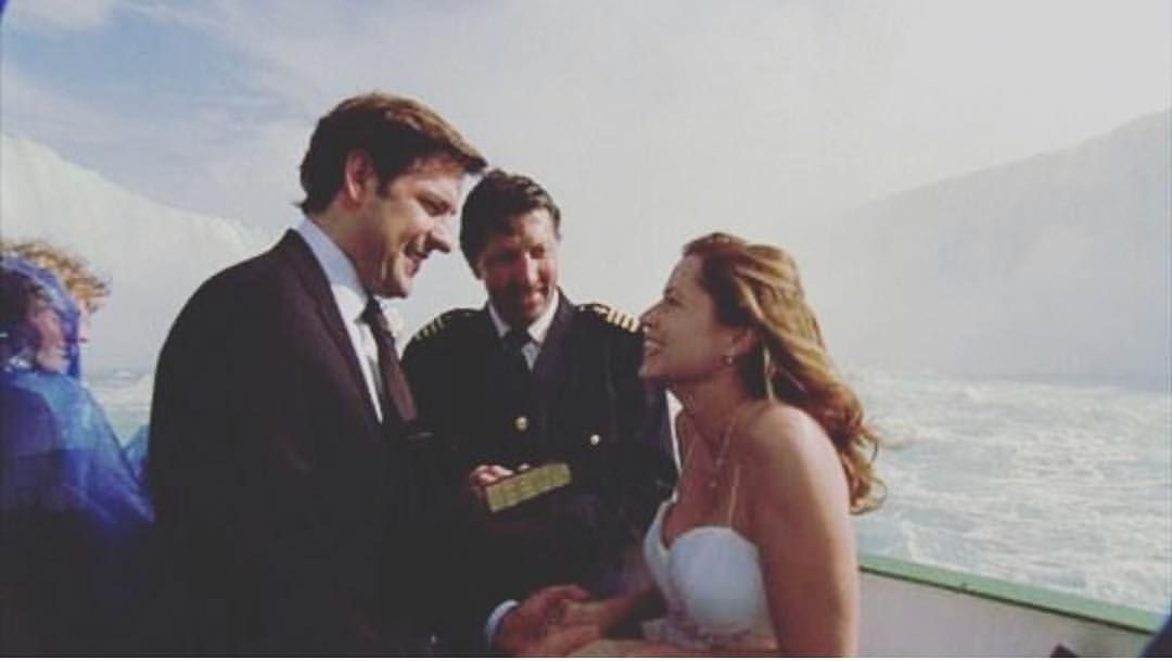 This Is The Best Wedding In T V History Jim And Pam Wedding The Office Jim The Office Show