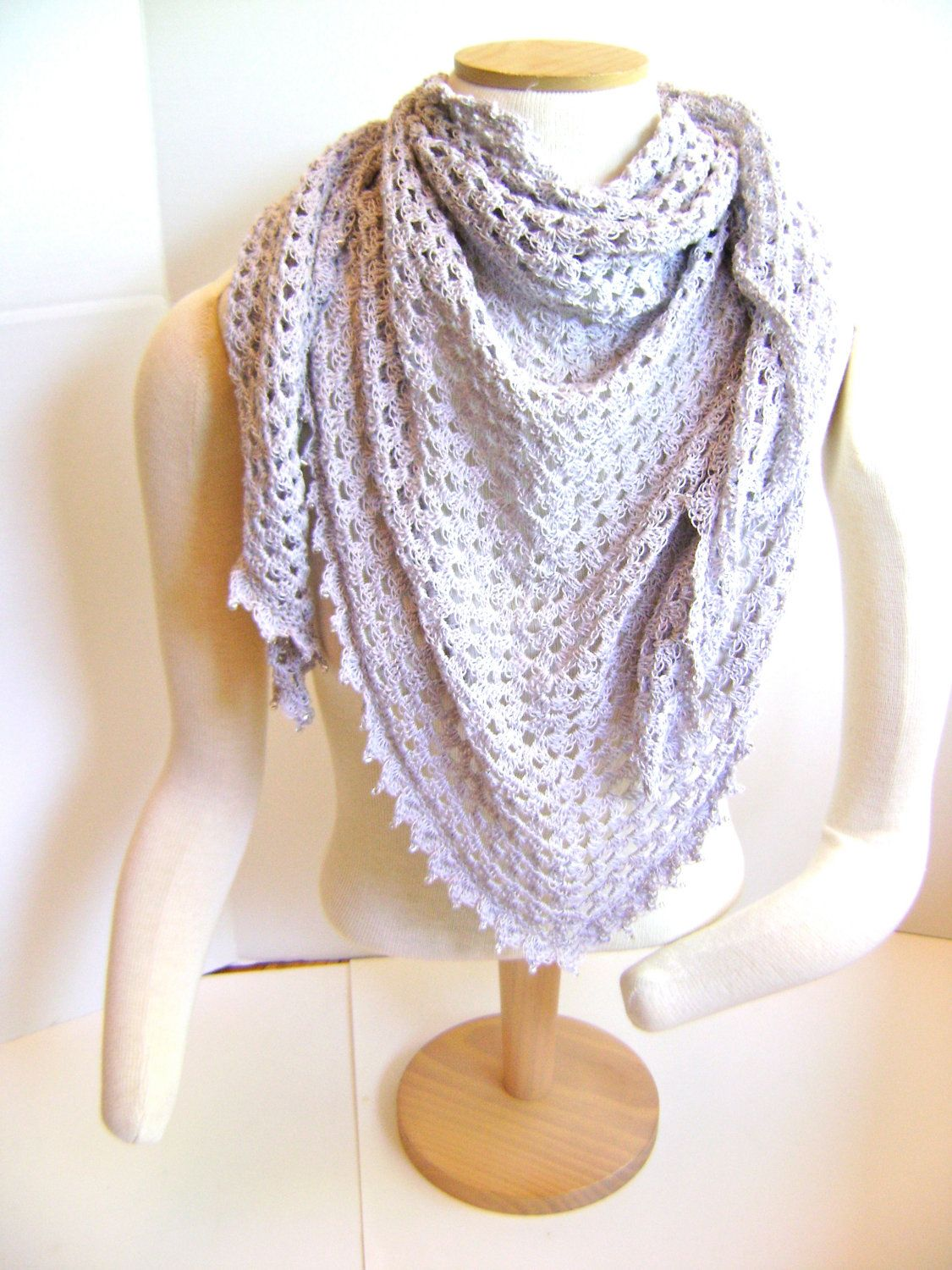 Triangle Shawl or Scarf Pattern- Easy Crochet Pattern for the ...