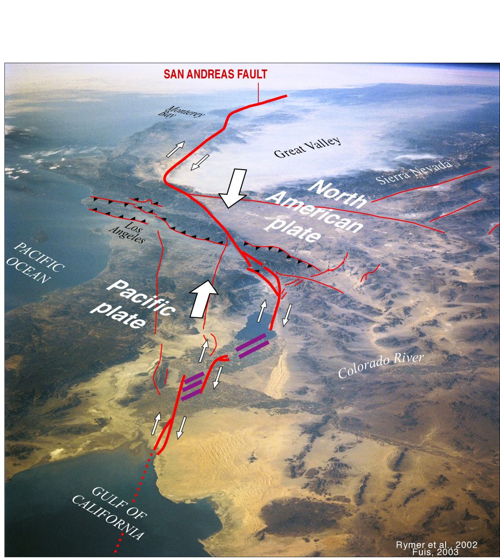 San Andreas Fault From Space San Andreas Fau...