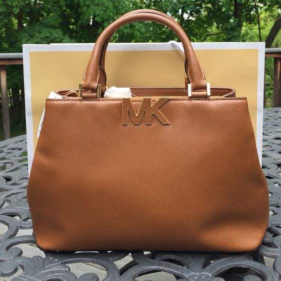 f31f56ff3c2c Michael Kors Florence Satchel Brand new with tags Michael Kors Florence  medium satchel. Beautiful luggage brown color. Combination of zipper and  button ...