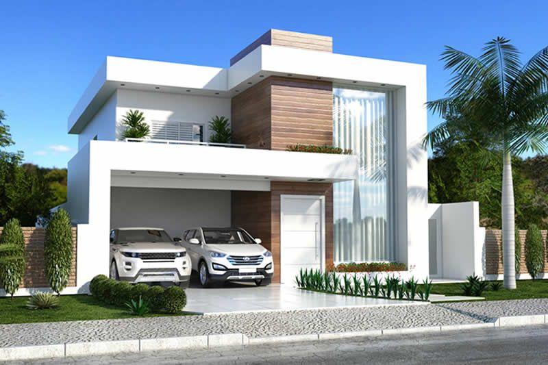 Planta de casa clean fachadas residenciais pinterest for Casas duplex modernas