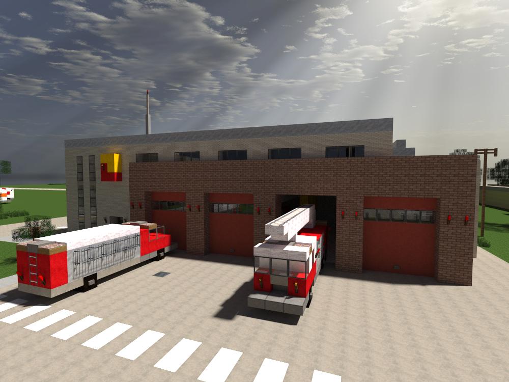 Minecraft Fire Station