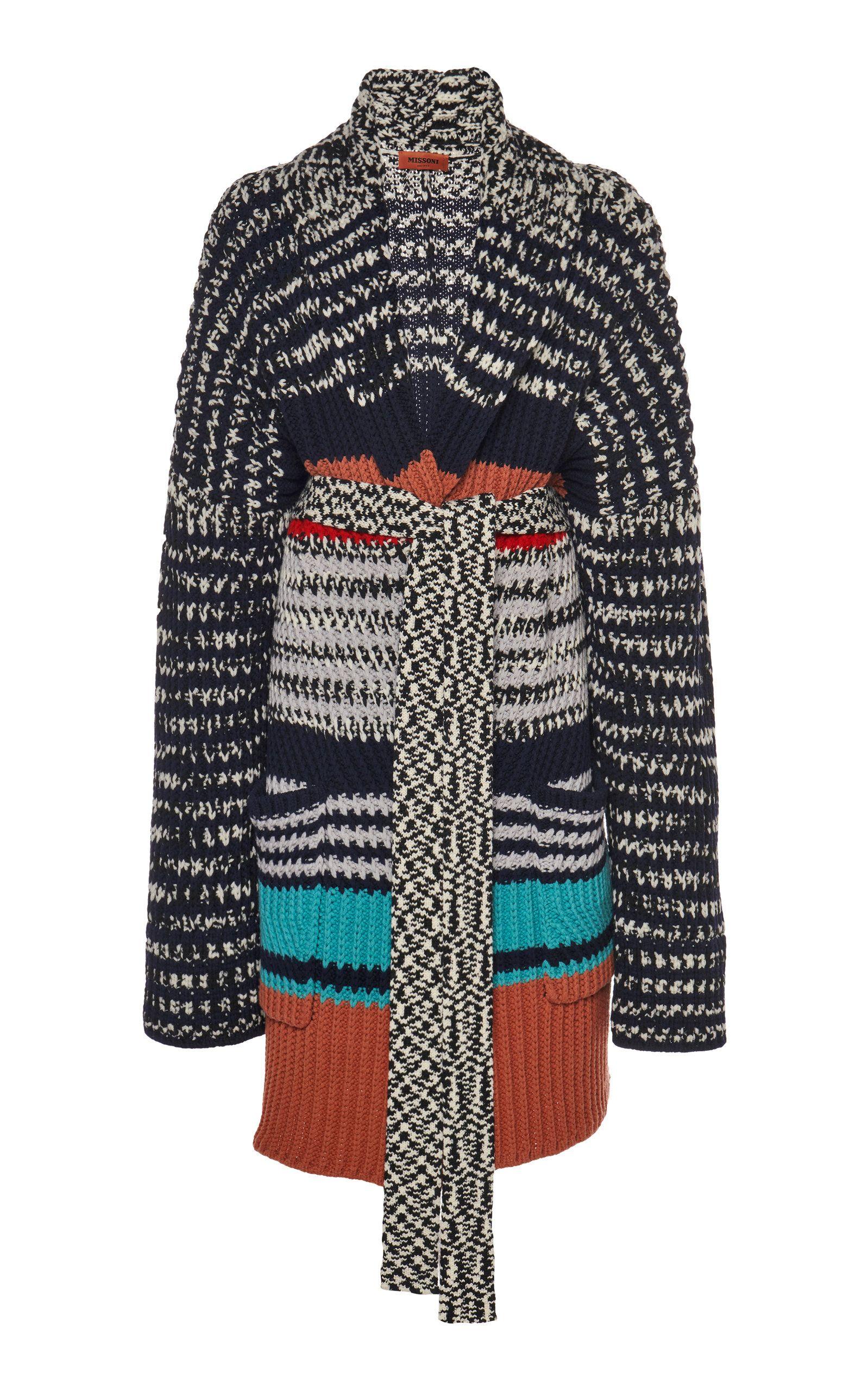 Missoni Style Women Rainbow Sweater Jacket