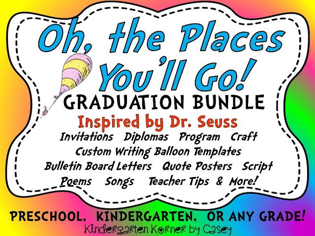 Kindergarten Korner Oh, the Places You\u0027ll Go! Graduation Program