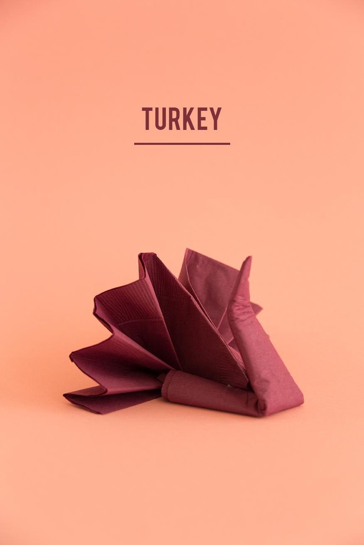 Guide to napkin folding for thanksgiving napkins for Turkey napkins