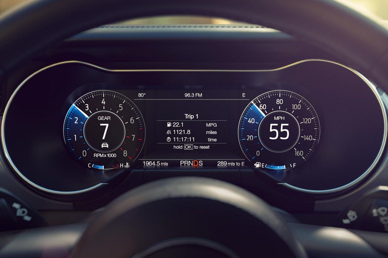 Close Up Of The 12 Inch Digital Lcd Instrument Cluster In Normal