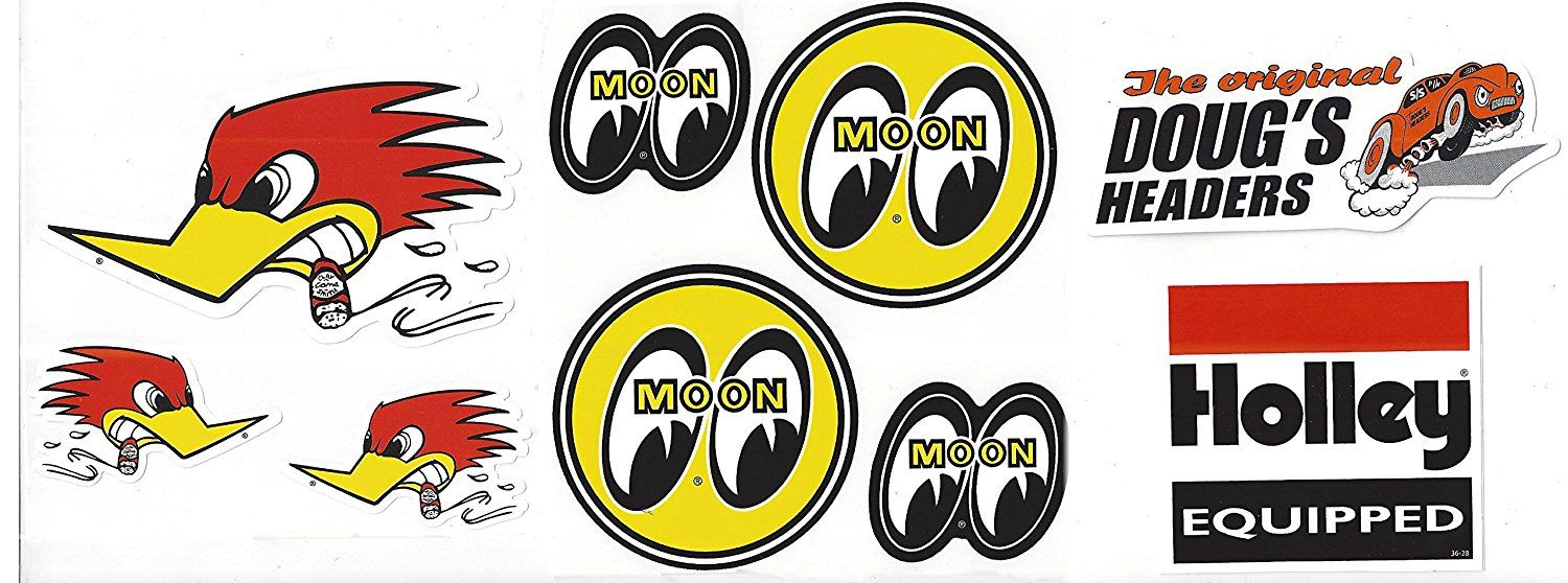 Amazon com: Mr Horsepower Moon Holley Doug's Headers Racing Decal