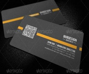 Rounded corner qr code business card template brand packaging rounded corner qr code business card template flashek Gallery