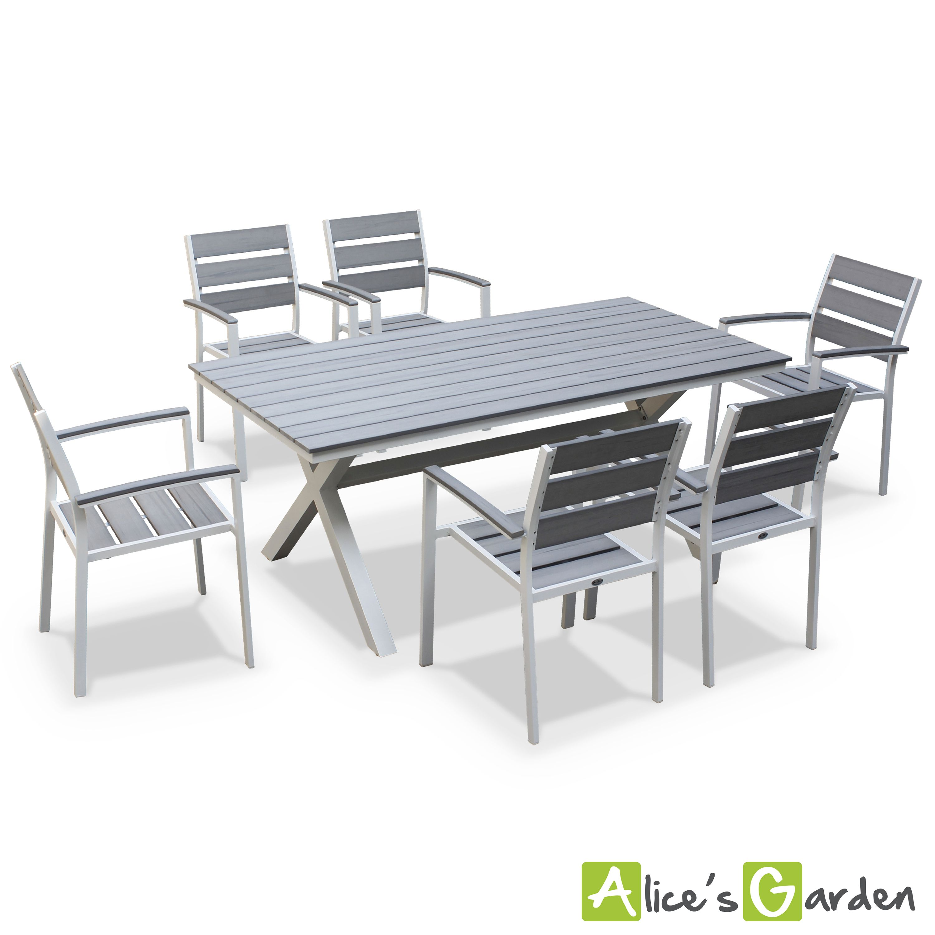 Salon Jardin 6 Places | La Crau Table De Jardin 6 Places Http Www Alicesgarden Fr