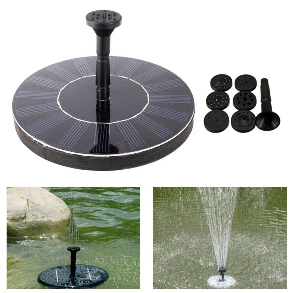 Outdoor Solar Pond Fountain Floating Water Fountain Decor Kit