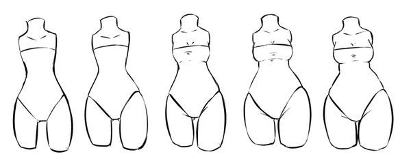 Different Body Types Body Type Drawing Body Drawing Tutorial Body Reference Drawing