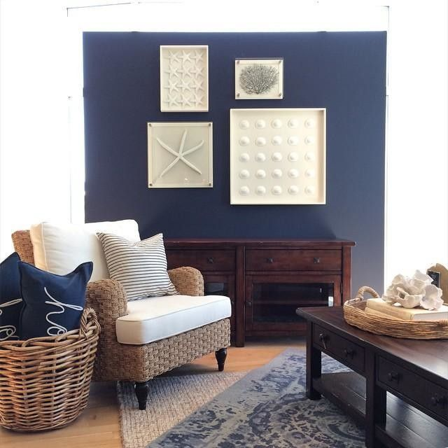 Bold Accent Wall With Coastal Design: The Monday Blues. Color An Accent Wall To Create A Bold