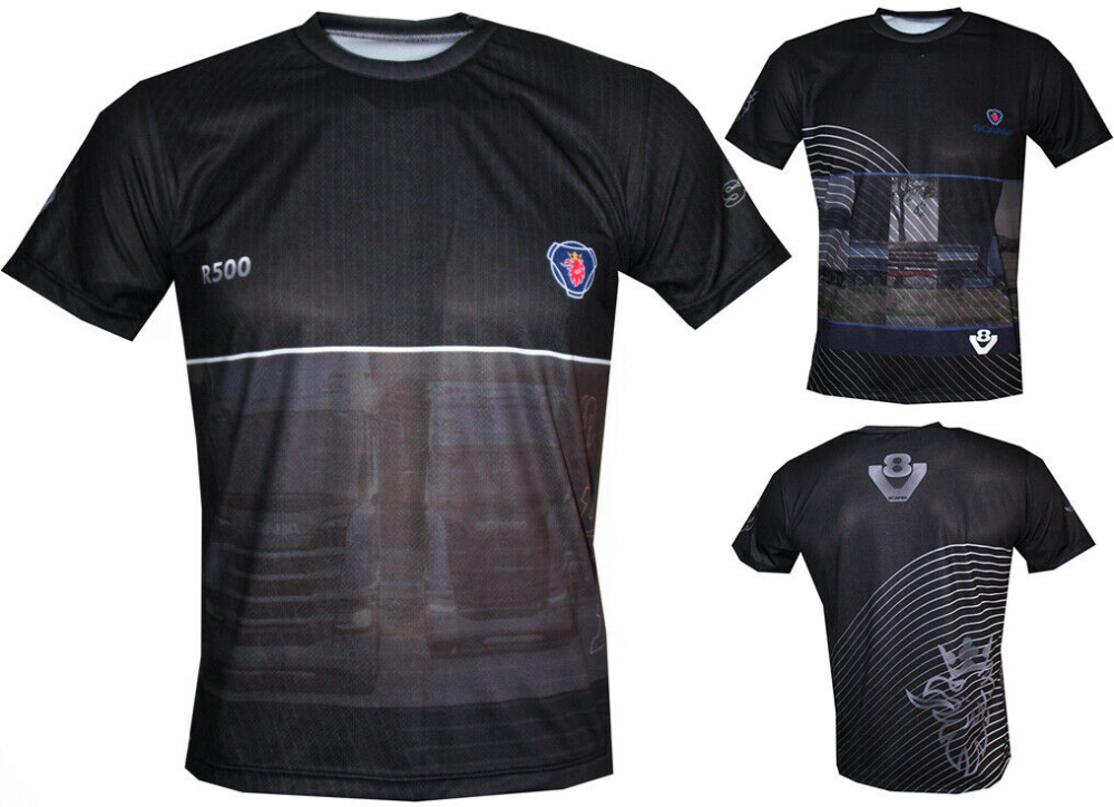 Details about Scania V8 T shirt Travel Maglietta Outdoor