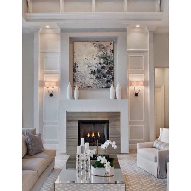 Nice classy fireplace | Home interiours | Pinterest | Living rooms ...