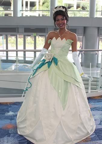 Princess And The Frog Wedding Dress Cosplay Costumes