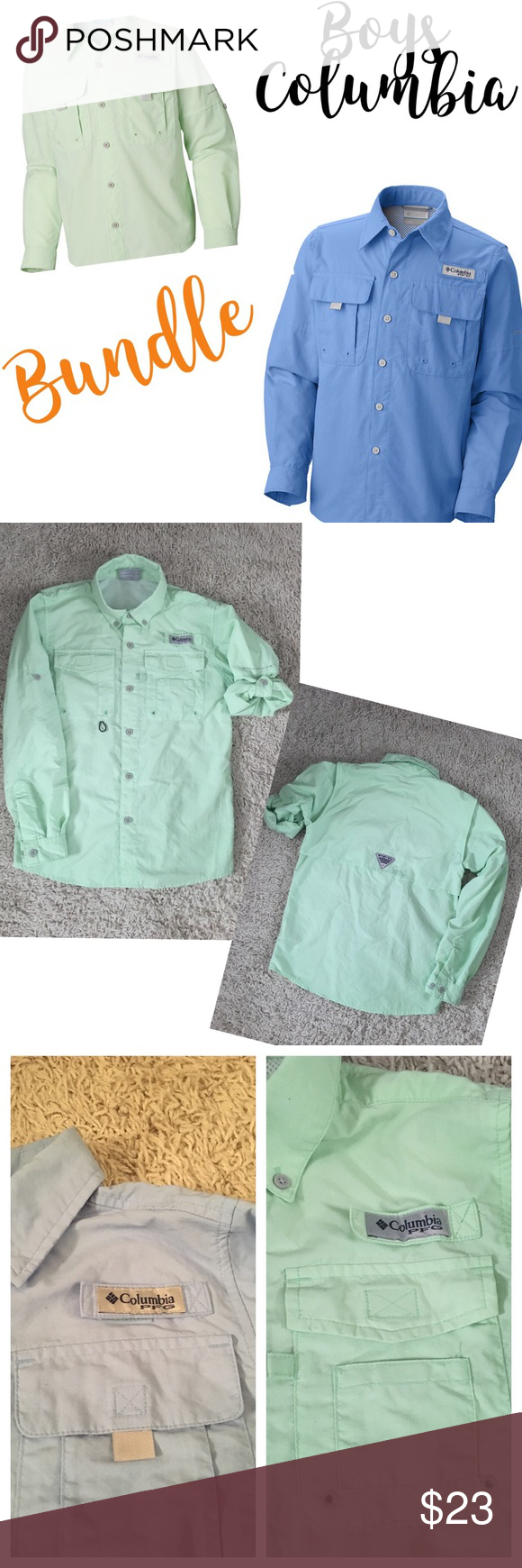 a5fafd9a Columbia PFG Long Sleeve Fishing Shirts Bundle EUC Lightweight quick-dry  nylon , breathable mesh