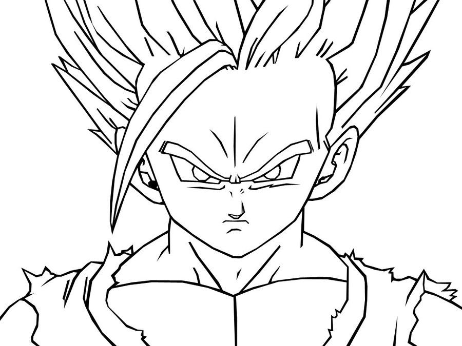 gohan coloring pages Teen Gohan Coloring Pages | Dragon Ball Z | Dragon ball, Dragon  gohan coloring pages