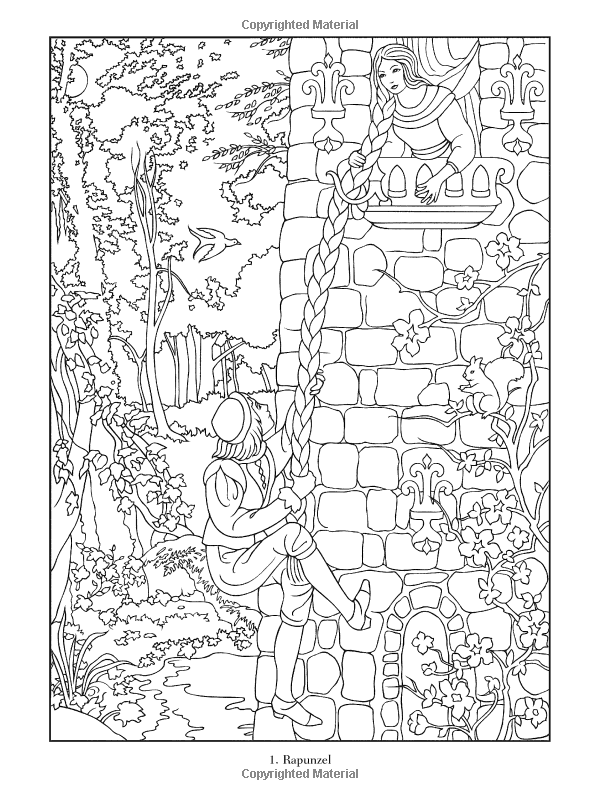 Famous Fairy Tales Coloring Book Dover Coloring Books Marty Noble
