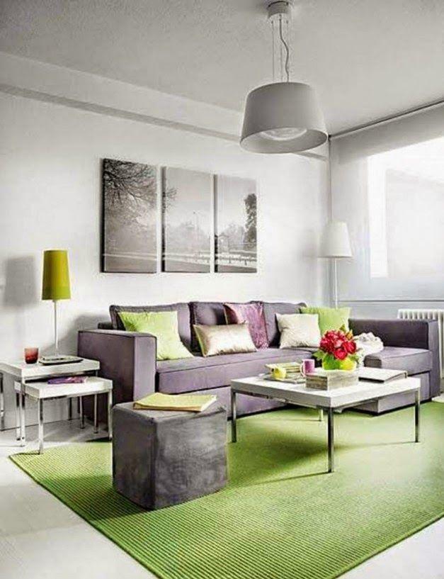 Dekorasi Ruang Tamu Dengan Karpet Hijau Griya Indonesia Apartment Design Small Interior