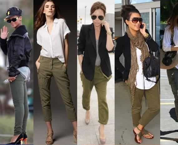 What To Wear With Army Green Skinny Jeans: Black Blazer, White ...
