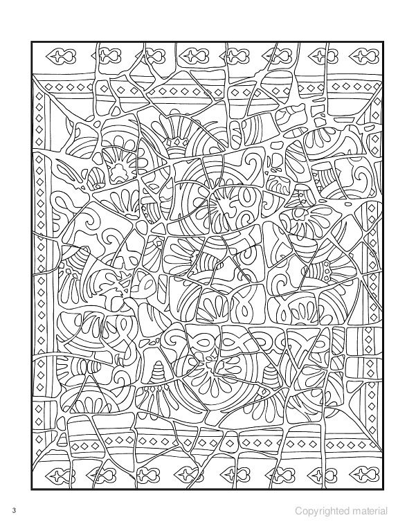 creative haven mosaic masterpieces coloring book - Mosaic Coloring Book