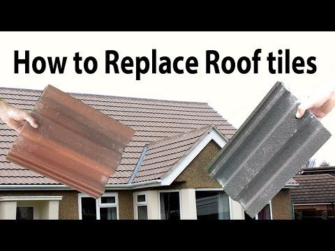 How To Replace Broken Common Interlocking Roof Tiles Youtube Roof Tiles Concrete Roof Tiles Roof