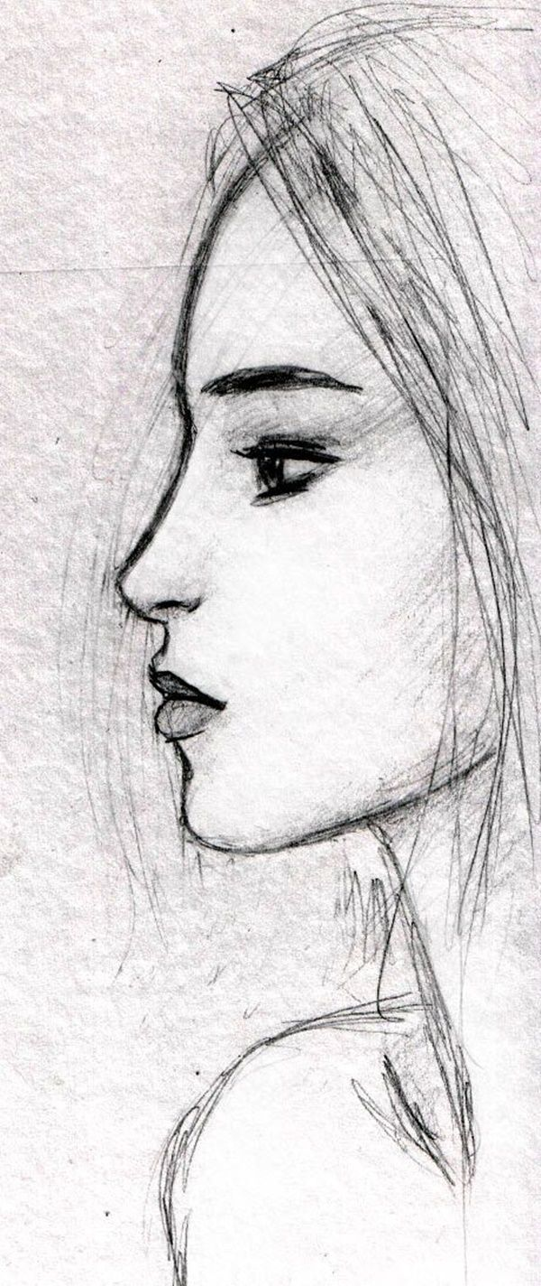 66 Cool and Easy Things to Draw When Bored | Face sketch