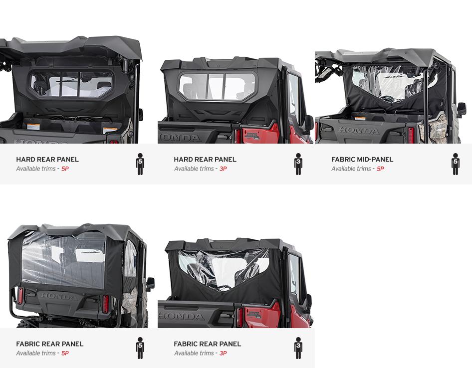 2016 Honda Pioneer 1000 Optional Rear Panels Honda Pioneer Forum Honda Pioneer 1000 Atv Atv Riding