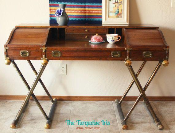 Vintage Drexel Campaign Desk - Vintage Drexel Campaign Desk Campaign Desk, Desks And Campaign