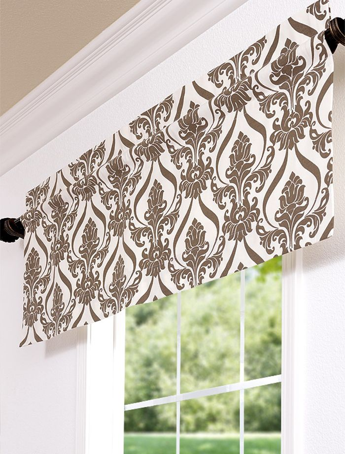 straight valance hung with a decorative rod