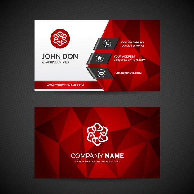 Vektrel izim indirvektrel ndirhediyekiiye zel hediye red business card stylish and classic magnetic business cards in elegant floral in black red and white customizable with your online business info flashek Image collections