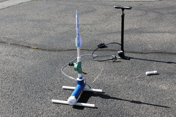 How to Build a Compressed Air Rocket Launcher. Great Pictures and step by step instructions