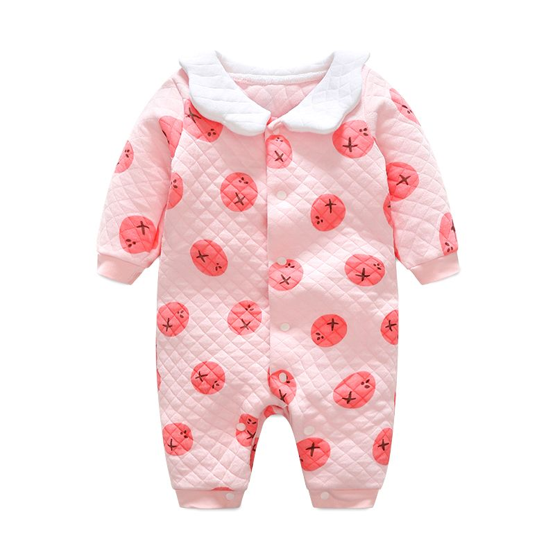a2e7341af739 Warm Thicken Baby Rompers Pajamas Long Sleeve Cotton Autumn Winter ...