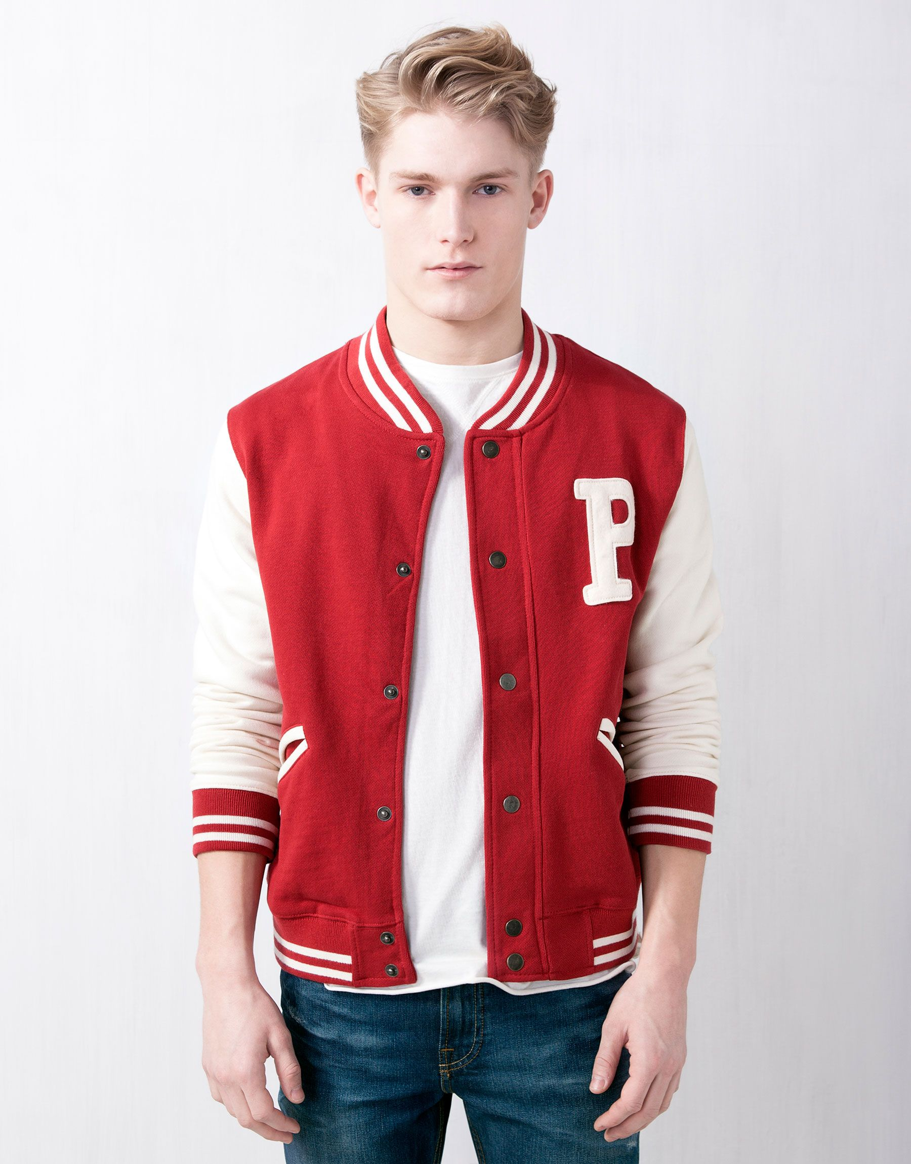 Pull And Bear Baseball Jacket Workout Tops For Women Baseball Clothing And Equipment Gym Tops
