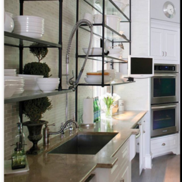 Industrial Kitchen Shelving Nha Bếp Bếp Kệ Bếp