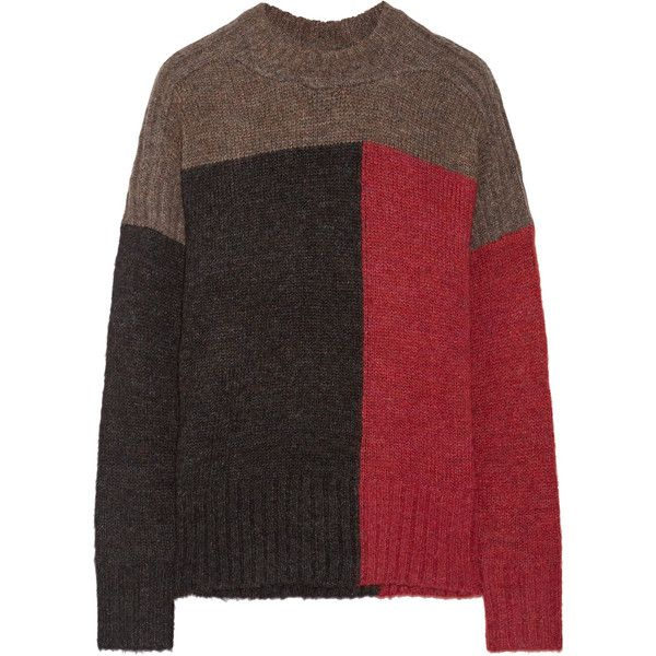 Cheap Sale Countdown Package Outlet Supply Davy Color-block Knitted Sweater - Red Isabel Marant Cheap Supply View Online Eastbay xpCPs