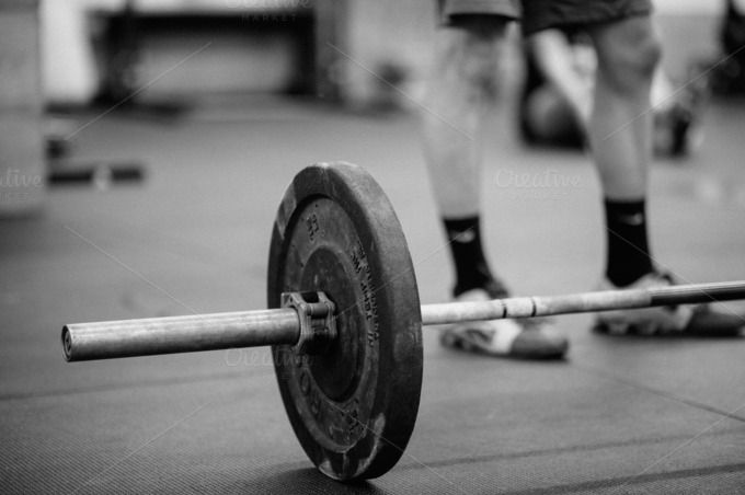 CrossFit Barbell Weights and Athlete by Sahil Parikh Photography on  Creative Market