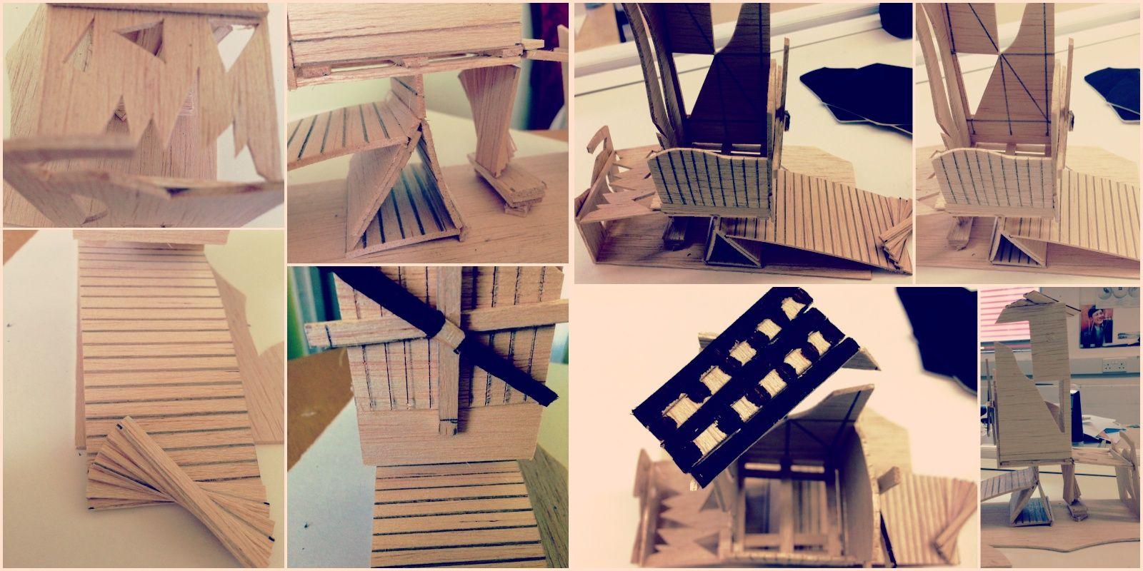 Balsa Wood Playground Wood Playground Model Making Home Decor
