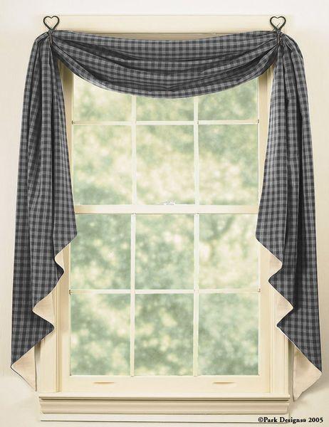 27 Window Inch Valance Black