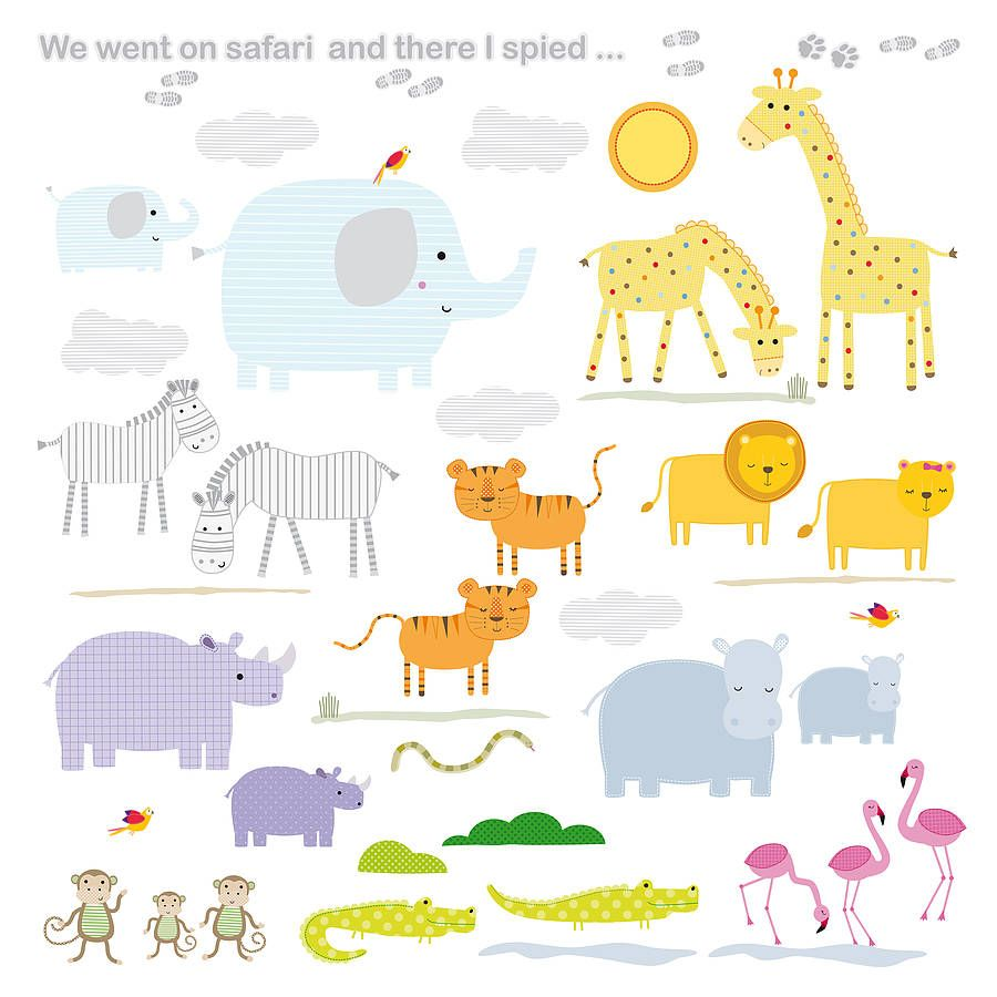Childrens Safari Wall Stickers With Images Wall